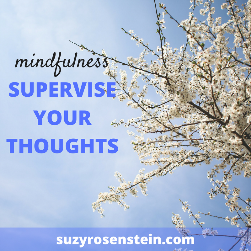 mindfulness supervise thoughts