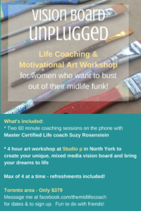 vision board art workshop